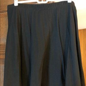 Mossimo black A-line skirt